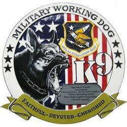 Military Working Dog 64th AEG Plaque