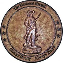National Guard Bureau Brass Effect Plaque
