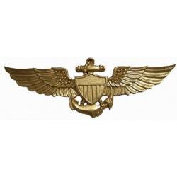 Naval Aviator Badge Gold Painted
