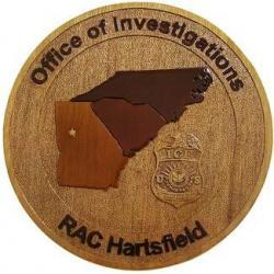 Office of Investigations RAC Hartsfield Seal Plaque