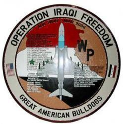 Operation Iraqi Freedom Marine Corps Deployment Plaque