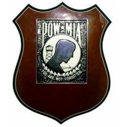 POW MIA Commemorative Shield Plaque
