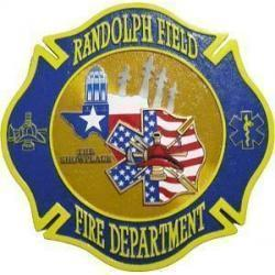 Randolph Field Fire Department Plaque