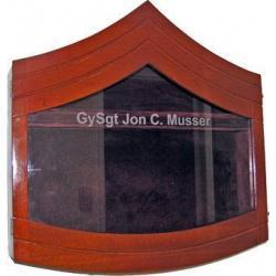 Shadow Box US Marine Corps E7 Natural Finish