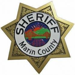 Sheriff Marin County Badge Plaque