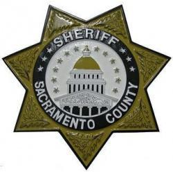 Sheriff Sacramento County Badge Plaque