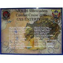 Strike Fighter Squadron 86 Navy Deployment Plaque