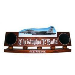 USAF Airplane in Flight Desk Name Plate
