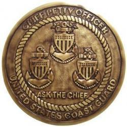 USCG CPO Antique finish Seal Plaque