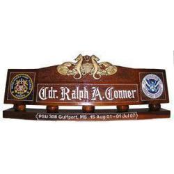 USCG Port Security Desk Nameplate