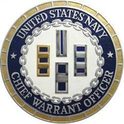 USN CWO Chief Warrant Officer Plaque
