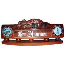US Army Horse Drawn Artillery Desk Nameplate