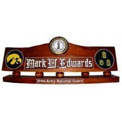 US Army National Guard Recruiter Desk Nameplate