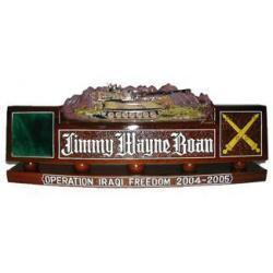 US Army Paladin Howitzer Artillery Desk Nameplate