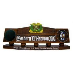 US Army Quartermaster Corps Desk Nameplate