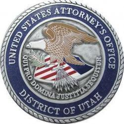 US Atty Office District of Utah Seal Plaque