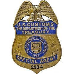 US Customs Special Agent Badge Plaque