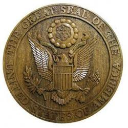 US Great Seal Natural Wood Finish Seal Plaque
