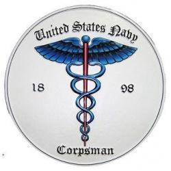 US Navy Corpsman Seal Plaque