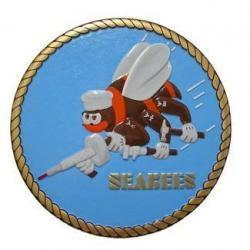 US Navy Seabees Seal Plaque