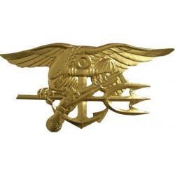 US Navy Seal Trident Badge Plaque