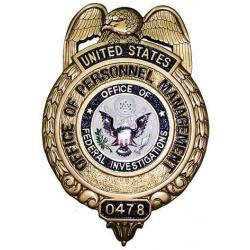 US Office of Personnel Management Badge Plaque