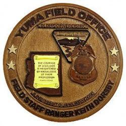 Yuma Field Office Field Staff Ranger Retirement Plaque
