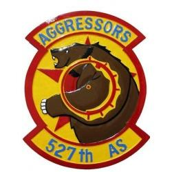 aggressors 527th as seal plaque