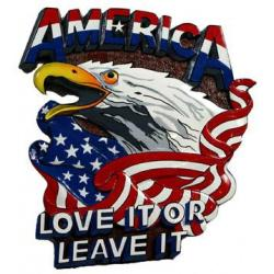 america love it or leave it plaque