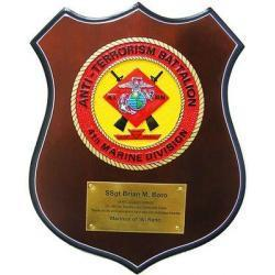 anti-terrorism battalion 4th marine division patch plaque