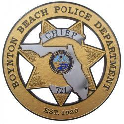 boynton beach police department chief plaque5 2064676614