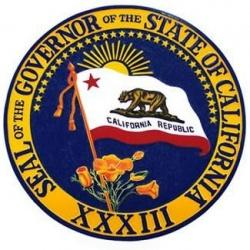 california governor seal plaque