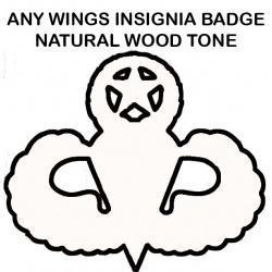 custom wings oversize natural finish