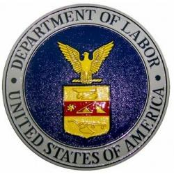 department of labor seal plaque