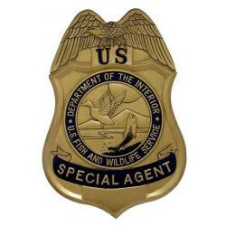 fish and wildlife service special agents badge plaque