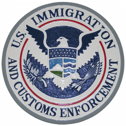 ice plaque us immigration and customs enforcement seal plaque