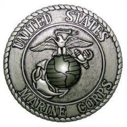 marine corps seal coin plaque silver