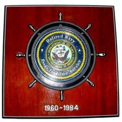 navy commemorative plaque