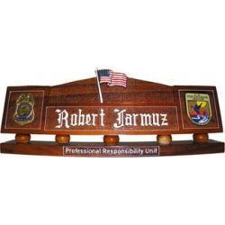 stars and stripes flag desk nameplate