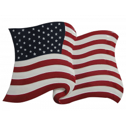stars and stripes flag plaque