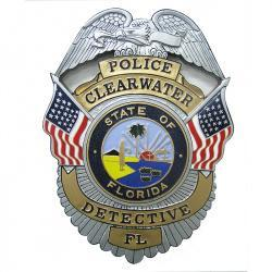 state-of-florida-clearwater-police-detective-badge-plaque 1