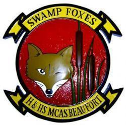 swamp foxes mcas beaufort handhs headquarters and headquarters support plaque