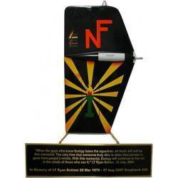 tail flash memorial plaque