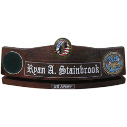 us army desk nameplate new england recruiting battalion seal