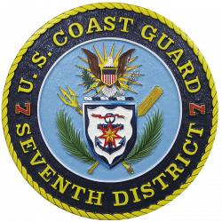 us coast guard 7th district seal plaque