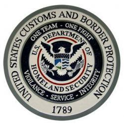 us customs and border protection seal plaque