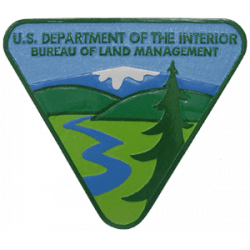 us department of the interior bureau of land management plaque