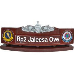 US Navy Enlisted Surface Warfare Specialist Desk Nameplate v2