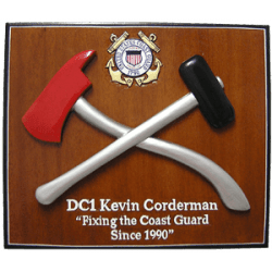 uscg damage controlman presentation plaque