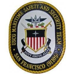 uscg maritime safety and security team seal plaque